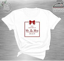 Last christmas as a miss T-shirt Iron on transfers, First christmas as a Mrs