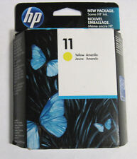 GENUINE HP 11 Yellow Ink Cartridge (HP C4838A) NEW SEAL!!! 2015 FAST FREE SHIP!