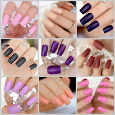 MATTE *COLORS* Full Cover Long Nail Tips + Glue! *YOU CHOOSE!*