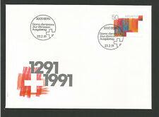 Suisse FDC 1991 oeuvre originale Croix suisse oblit. Bern /L3307