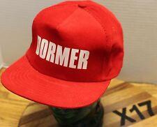NWOT VINTAGE DORMER TOOLS TRUCKERS HAT RED SNAPBACK ADJUSTABLE NEVER WORN X17