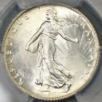 1920 PCGS MS 65 France 1 Franc Last Silver Sower Mint State Coin (19090205C)