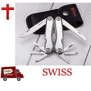Multi Tool Swiss Knife Gear For Camping Fishing Folding Screwdriver