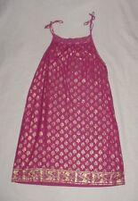 EUC Gap Kids Girls WOODSTOCK Pink W/ Metallic Gold Leaves Dress Size L 10 VHTF