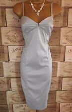 River Island Silver Grey Pencil Cocktail Dress Size 14 BNWT