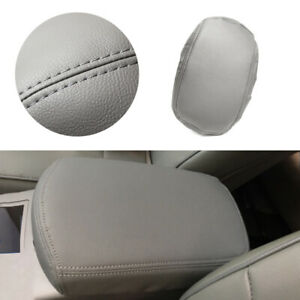 1*Gray PU Armrest Console Lid Replacement Leather Cover For Toyota Rav4 2006-12