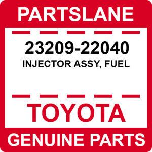 23209-22040 Toyota OEM Genuine INJECTOR ASSY, FUEL