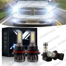 New Listing4Pcs 6000K Led Headlight + Fog Light Bulbs For Dodge Ram 1500 2500 3500 2003-05