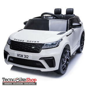 Auto elettrica macchina per bambini Land Rover Range Rover Velar 12V - Bianco