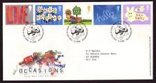 29046) UK - GREAT BRITAIN 2002 FDC Greeting stamps 5v