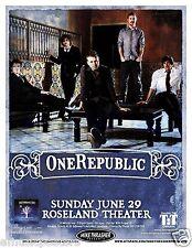 Onerepublic 2008 Portland Concert Tour Poster - Pop/Alternative/Cello Rock Music