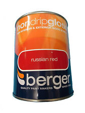Berger Non Drip Gloss For Interior / Exterior - Wood / Metal Russian Red Paint