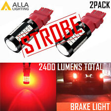 Alla Lighting 33-LED 3157 Legal Strobe Brake Light Bulb|Parking|Tail|Blink→Solid