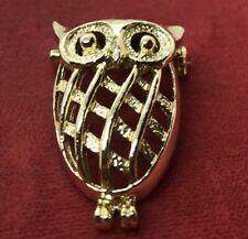 Vintage Brooch Pin Gerry's Owl Gold Tone Animal Bird