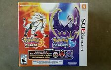 Pokemon Sun and Moon Dual Pack Nintendo 3DS XL DS Solgaleo Lunala Game New