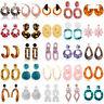 1 Pair Acrylic Earrings Geometric Dangle Drop Resin Stud Earring Women Jewelry