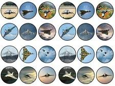 24 british vulcan bomber delta raf cupcake toppers birthdays party edible paper