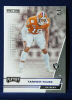 2020 Playoff Goal Line Tanner Muse RC Rookie Blue Foil Parallel #298 Raiders