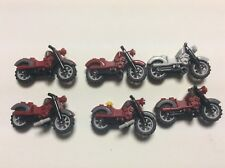 Lego motorcycle Lot of 6 Harley Davidson motorcycles minifig accessories N467M