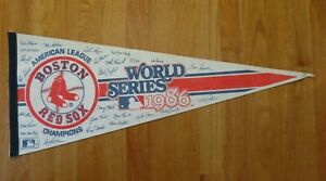 """1986 BOSTON RED SOX American League Champions 30"""" Pennant JIM RICE ROGER CLEMENS"""