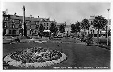 Scotland postcard Blairgowrie Wellmeadow & War Memorial