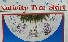 Dimensions Nativity Christmas Tree Skirt Stamped Cross Stitch Kit 8345 Repackage