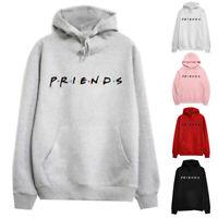Women Hooded Sweatshirt Print Tops Long Sleeve Casual Hoodies Jumper Pullover UK