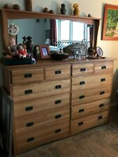 New listing Mission Style Chest of Drawers & Mirror