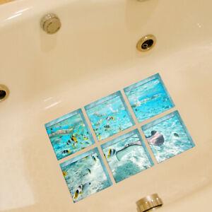 6pcs/Set Non-Slip Bathtub Stickers Safety Bathroom Tub Shower Treads Decals