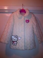 NWT Girls HELLO KITTY Faux Fur Coat Jacket AGE 4-5 yrs