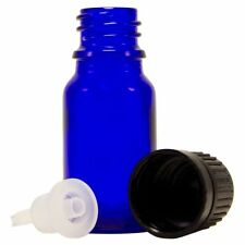 144 Pcs 10 ml [1/3 oz] Cobalt Blue Glass Bottle W/ Euro Dropper