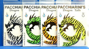 Paolo Pacchiarini´s Dragon Tails LARGE 5 Farben 5 Stück je Farbe ZEBRA DESIGN