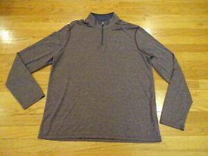 Under Armour Loose Heat Gear Men's 1/3 Zip Long Sleeve Shirt Top Size L