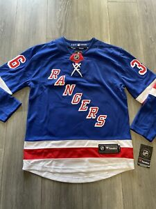 NEW Zuccarello Mens Sz SM New York Rangers Fanatics Jersey Adult Hockey Jersey