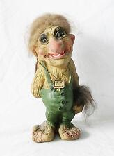 "Nyform Troll Art Doll #700-Tom Cruz in Green 9 1/2"" Tall HANDMADE IN NORWAY"