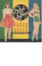 VINTAGE UNCUT 1943 STYLE SHOP PAPER DOLL HD~LASER ORG SZ REPRODUCTION~LO PR