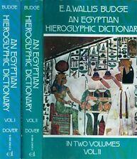 2-Volume Complete Egyptian Semitic Coptic 28,000 Word Hieroglyphic Dictionary