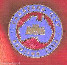 LAWN BOWLING CLUB  BADGE -  CANBERRA CITY