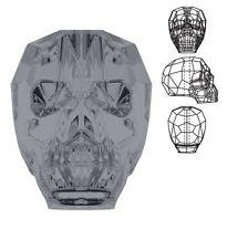 Swarovski Crystal Skull Silver Night Color 14mm x 13mm x 10mm  1 PCS. 5750