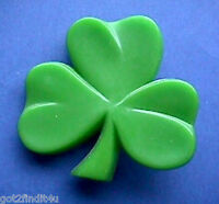 Hallmark PIN St Patrick Vintage SHAMROCK Irish Holiday Brooch Lrg 1970s RARE