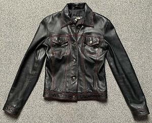Crazy Outfits: Lederjacke DS-602 schwarz Größe 40 - gebraucht, Top-Zustand