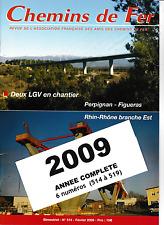 AFAC - Année 2009 (Complet) Revues de l'association des amis des Chemins de Fer