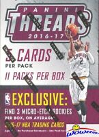 2016/17 Panini Threads Basketball EXCLUSIVE Factory Sealed Blaster Box !