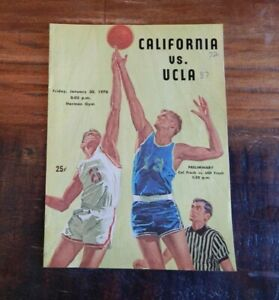 1970 CALIFORNIA BEARS V UCLA BRUINS COLLEGE BASKETBALL PROGRAM WICKS BIBBY ++