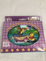 Vintage Winnie the Pooh Playing Cards (2) Decks W/ Collectors Tin New Sealed