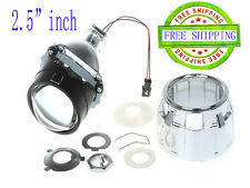 Mini Bi-Xenon Retrofit Projector Lens High Low Hi/Low Beam H4 H1 H7,Shroud Combo