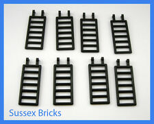 Lego - 8x Black Ladder Bar 7x3 Double Clips - Castle Pirates - 6020 - New Pieces