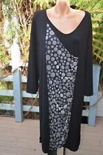 LS Collection Size L-16/18 Black TUNIC DRESS NEW rrp$146. Ruched Vertical Panel