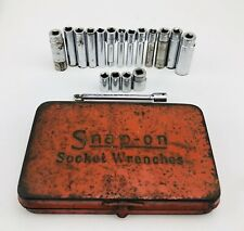 Snap On Tools Mixed USA SAE Socket Set With Vintage Snap On Socket Wrench Box