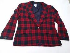 Women's Pendleton Size 12 Wool Plaid Blazer Jacket
